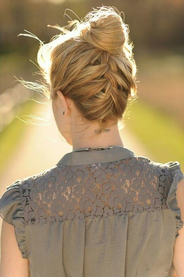 Easy Braid Bun Updos with Medium Hair - Everyday Hairstyle Ideas for Summer