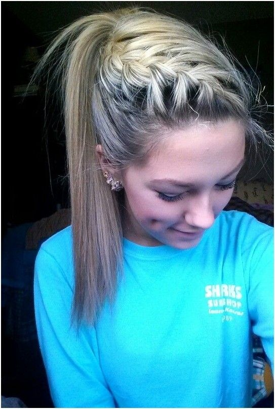 French Braid with High Ponytail - Cute Hairstyles for School
