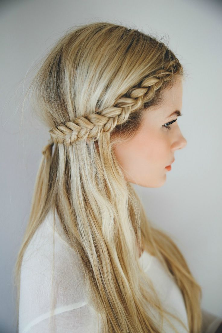 Front Row Braid, Video Tutorial - Half up Half down Hairstyles