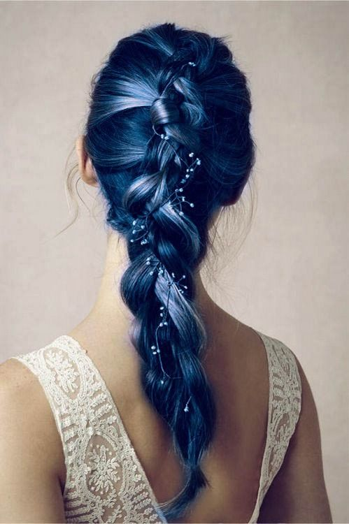 Gorgeous Blue Hair - Long Hair with Braid