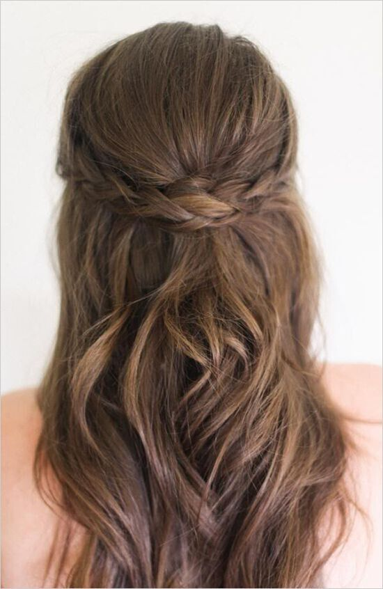 Half Up Half Down Braided Hair