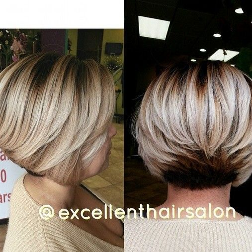 Layered Bob Haircut for Short Thick Hair