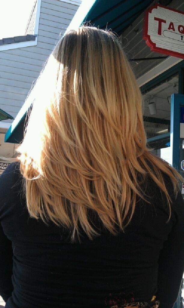 Layered Medium Straight Hairstyle