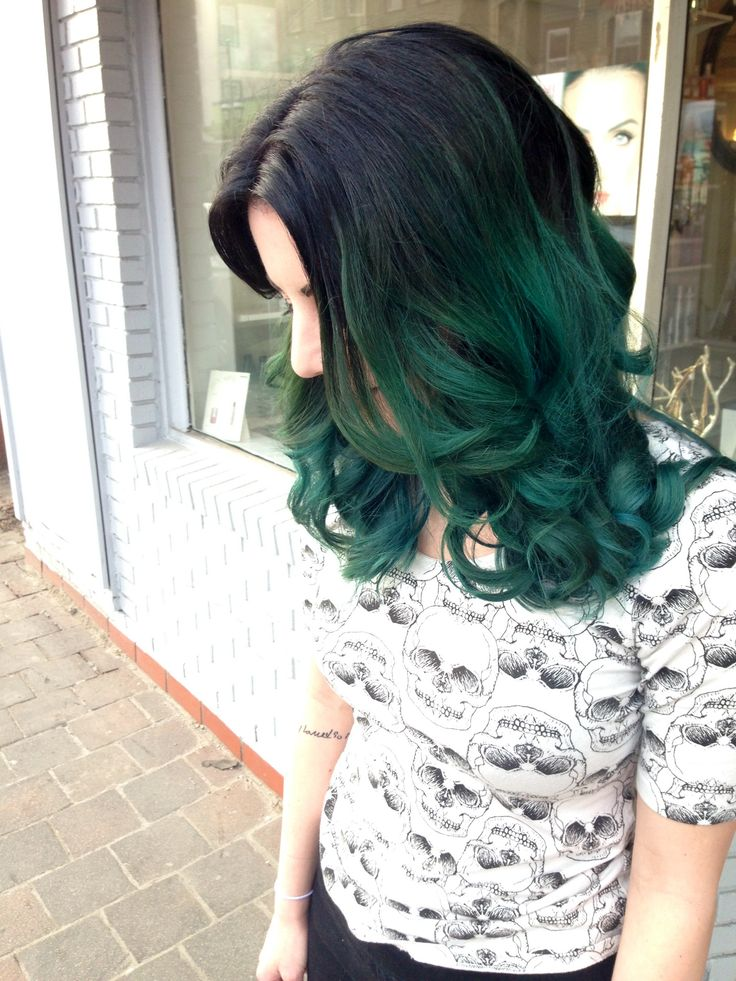Ombre Hairstyles - Dark Hair to a Crazy Color