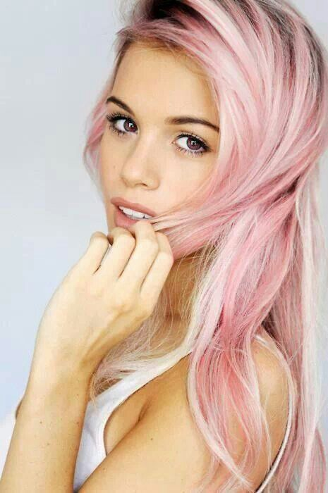 Pink Hairstyles - Rainbow Hair Colour