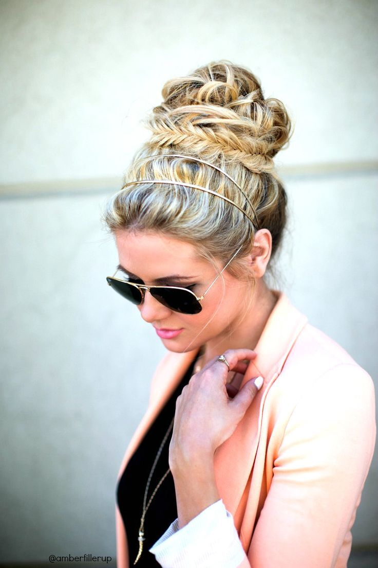 Pretty Braid Updo Hairstyles for Women and Girls