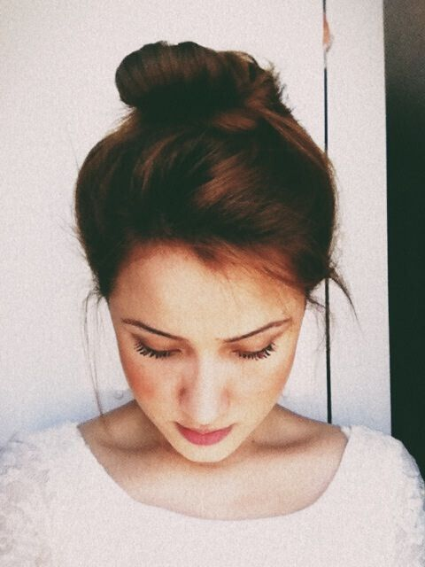 Pretty, Easy Updo Hairstyle for Girls Medium Hair