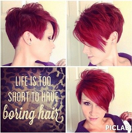 Great Spiky Short Haircut For Black Women