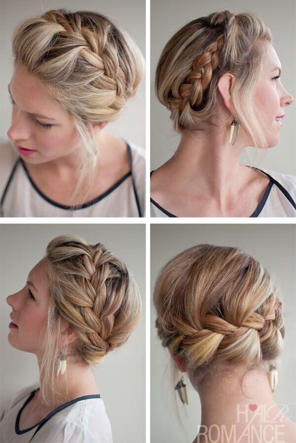 Stylish French Crown Braid Hairstyles - Braided Updo