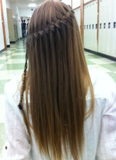 Waterfall Braid Long Hair Styles