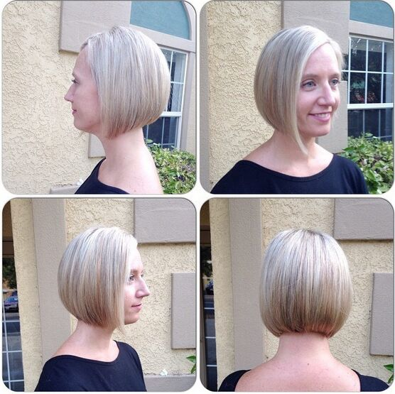 Asymmetrical, A-line Bob Haircut - Easy Everyday Hairstyles for Women Short Hair