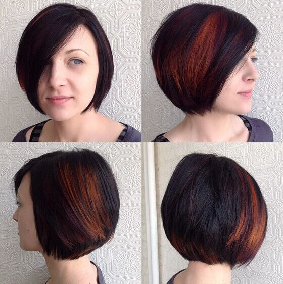 Bob Hairstyles with Side Bangs - Pretty Short Hair Styles for Women