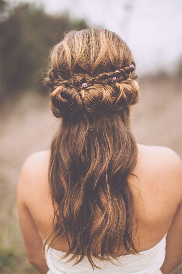 Remarkable 15 Latest Half Up Half Down Wedding Hairstyles For Trendy Brides Short Hairstyles Gunalazisus