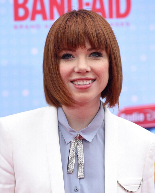 Carly Rae Jepsen Short Haircut - Straight Bob Hairstyles for Round Face Shape