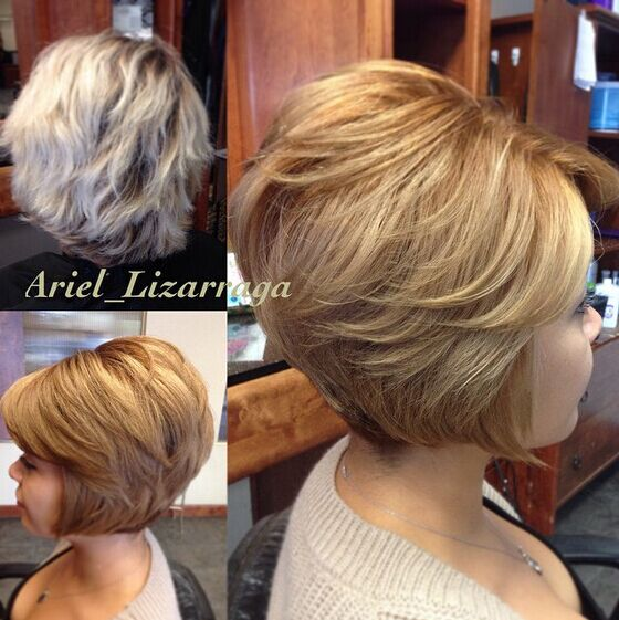 Choppy, Layered Bob Haircuts for Short Thick Hair