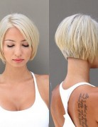 Cute Blunt Short Bob Hairstyle - Stylish Short Haircut for Summer 2015 - 2016