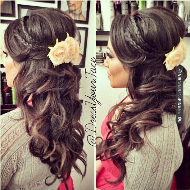 Brilliant 15 Latest Half Up Half Down Wedding Hairstyles For Trendy Brides Short Hairstyles For Black Women Fulllsitofus
