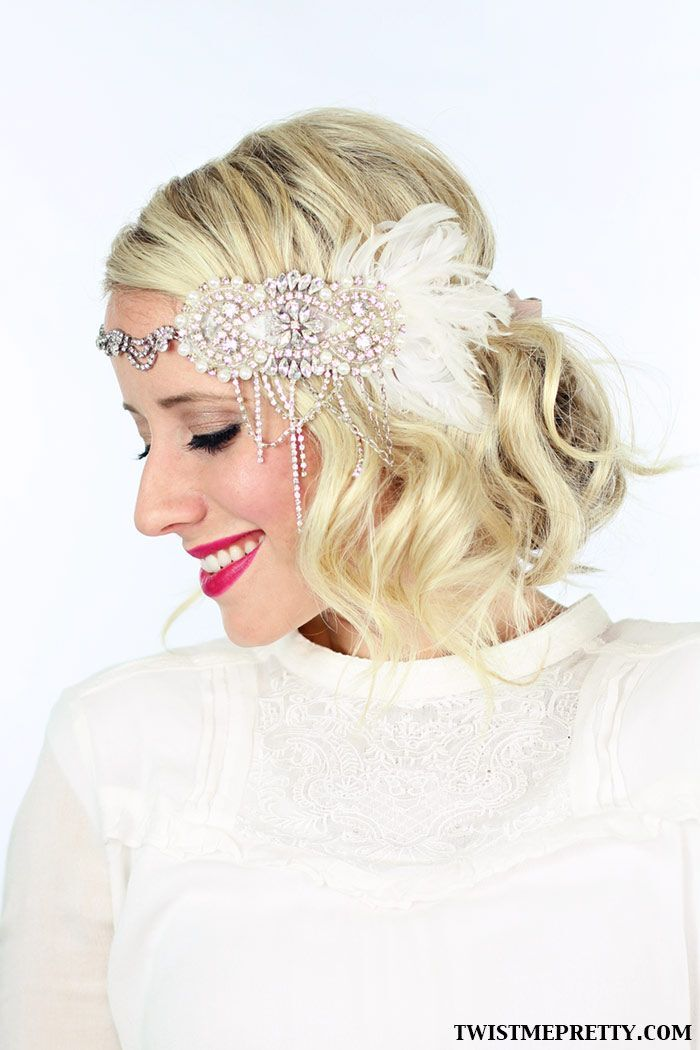 Low Updo Hairstyle with Hair Accessories