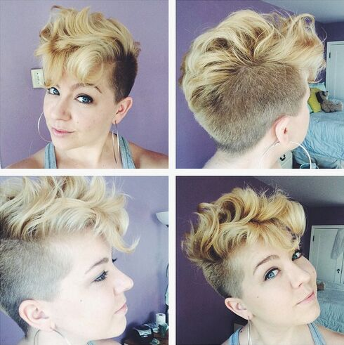 Messy Short Hairstyle - Summer Haircuts for Women