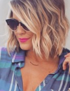 Ombre Wavy Hairstyles for Medium Length Hair
