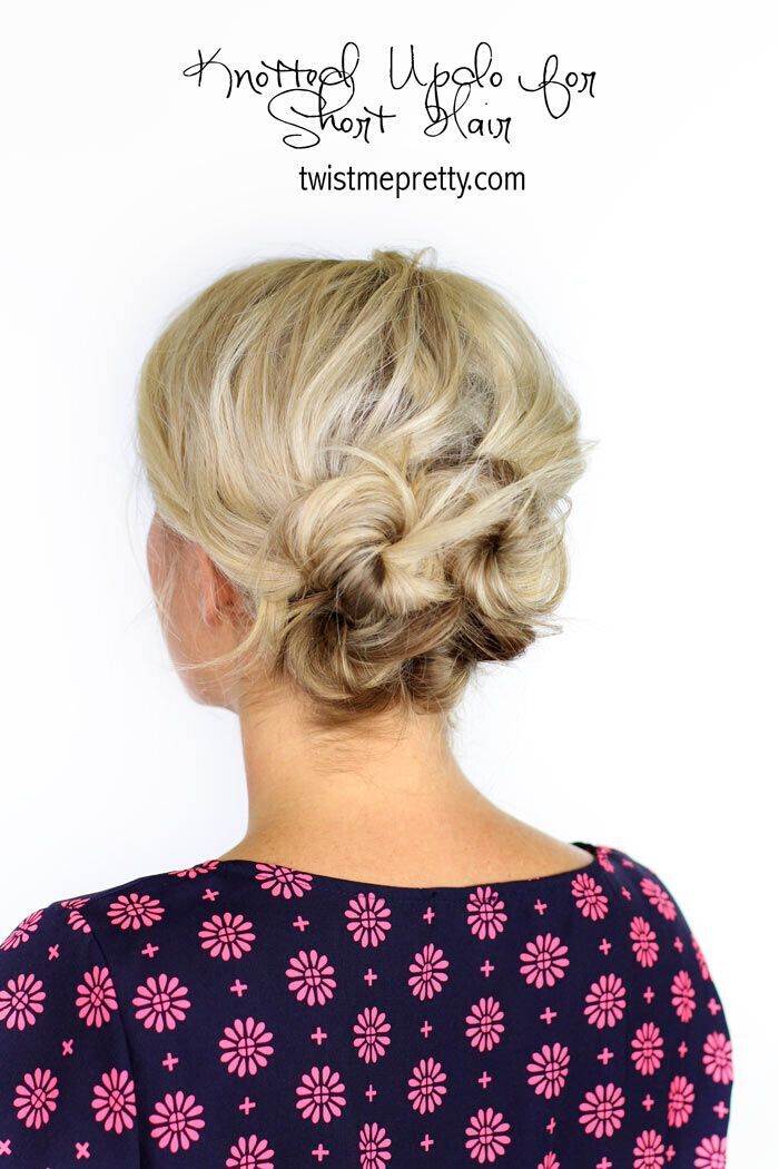 Perfect for Holiday Parties Updo Hairstyle for Medium Hair - 5 Minutes Hairstyles