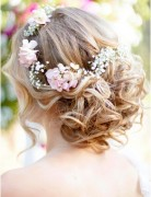 Romantic Bohemian Wedding Hairstyle for Medium Length Hair