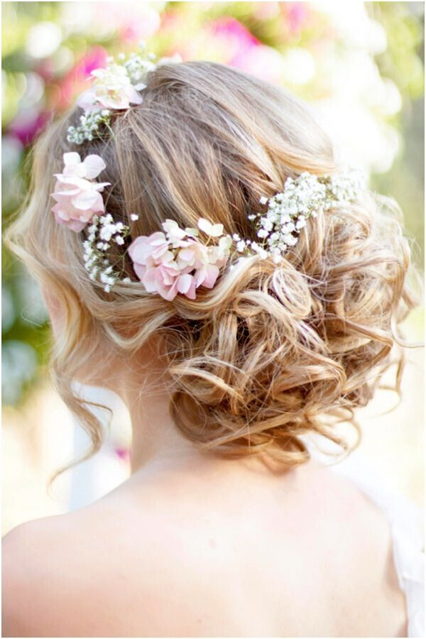 Bohemian Wedding Hairstyle For Medium Length Hair