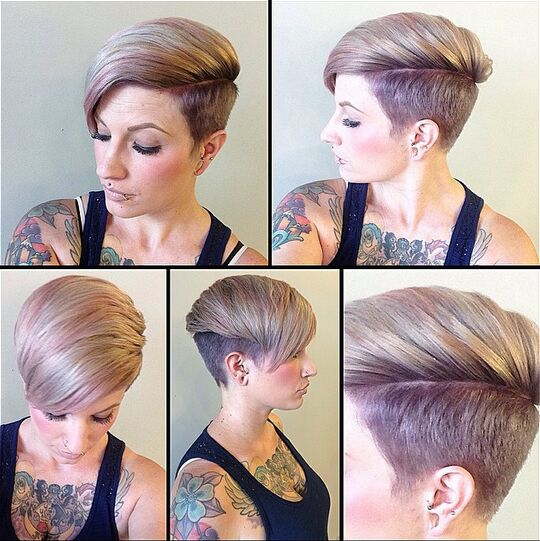 Shaved Hairstyles for Short Hair - Short Haircut with Bangs