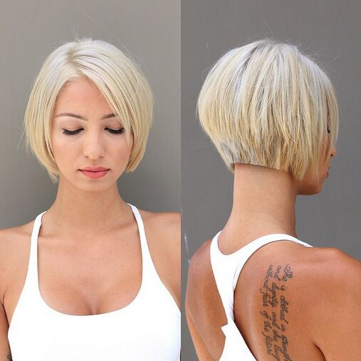 Short Haircut With Volume And Texture Back View