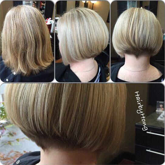 Short Straight Bob Cut Back View