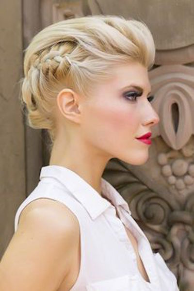 20 gorgeous updo hairstyles for short hair popular haircuts. Black Bedroom Furniture Sets. Home Design Ideas