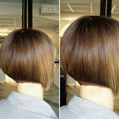 Stacked Bob Haircut for Short Straight Hair
