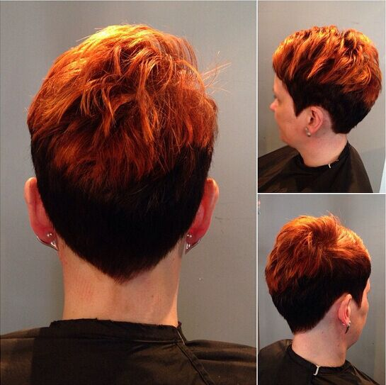 Trendy Pixie Haircut with Highlights