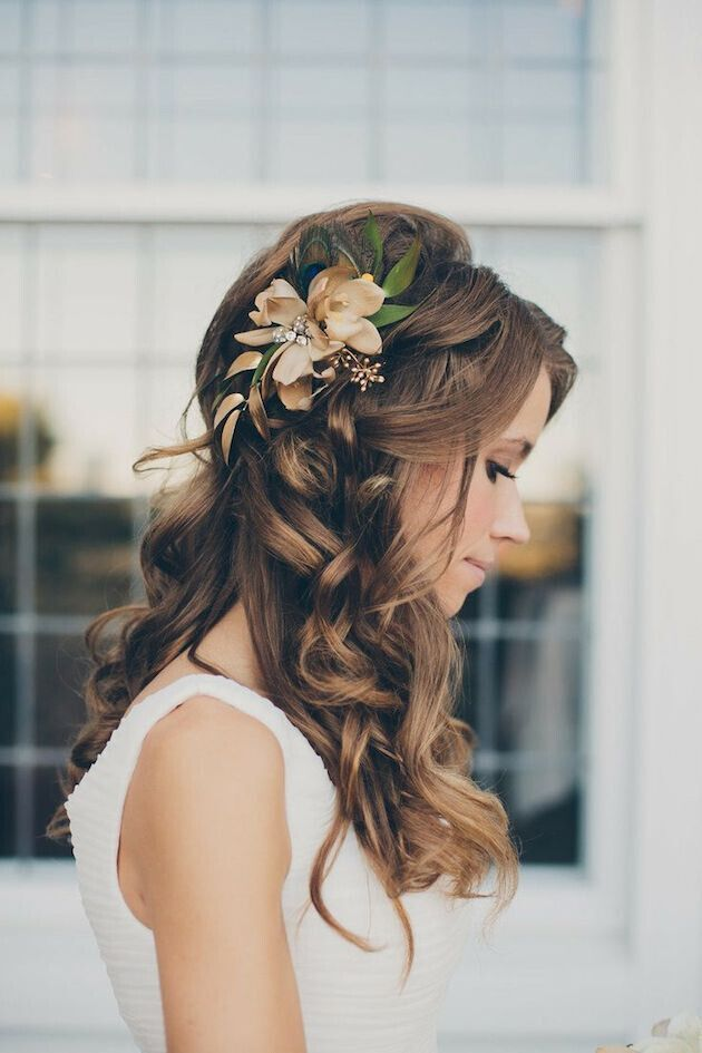 15 Latest Half Up Half Down Wedding Hairstyles For Trendy Brides