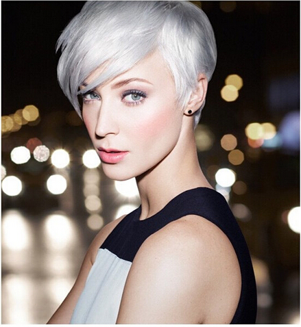 Chic Long Pixie Haircut with Side Bangs: 2015 - 2016 Short Hairstyles for Women