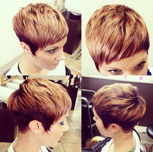 Cute, Layered Short Hairstyles for Heart Face Shape