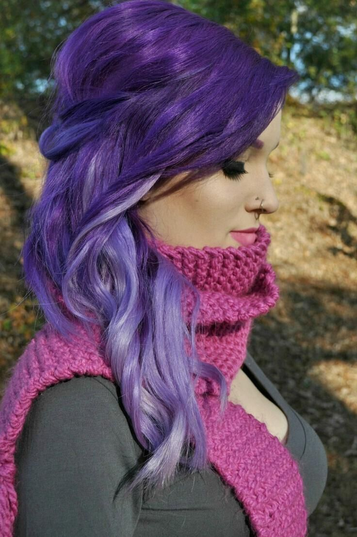 17 stylish hair color designs purple hair ideas to try popular dark purple highlights pmusecretfo Image collections