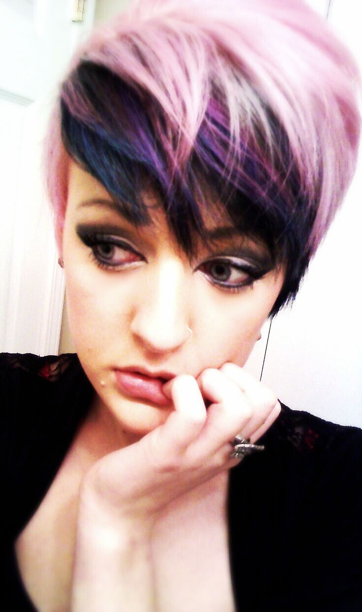 Funky purple and pink hair - Stylish Short Hairstyles 2015 - 2016
