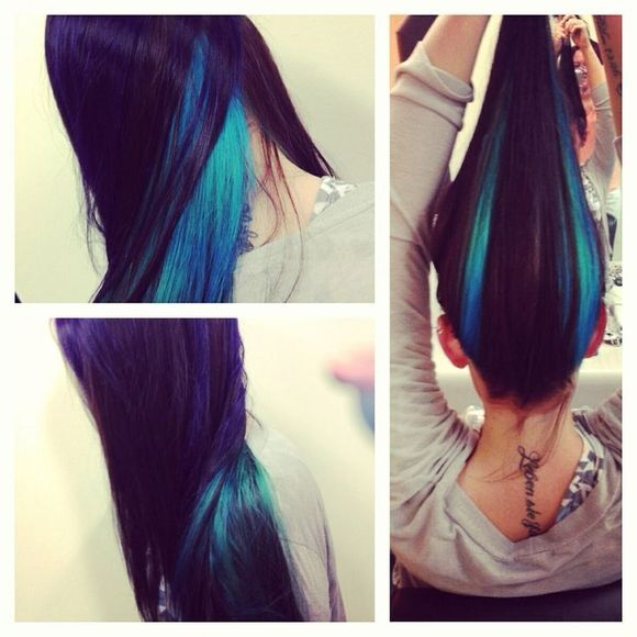 Gorgeous Purple Hair Color Ideas - Straight Long Hair