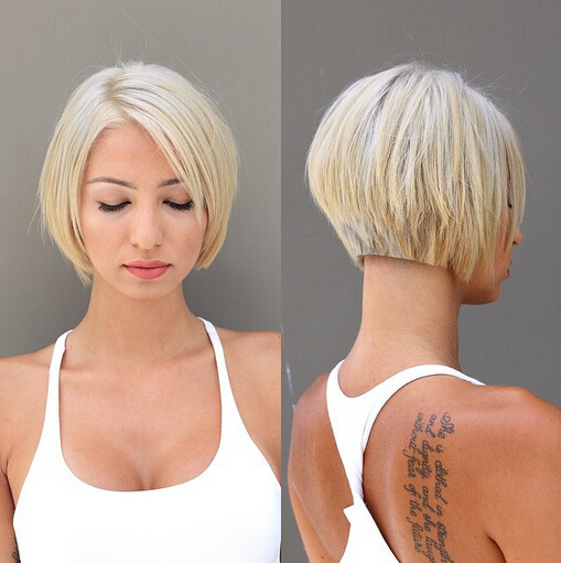 Hot and funky bob hairstyle for short hair that you can try on and set a new bob style
