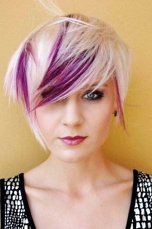 Nice Short Haircut with Stylish Color