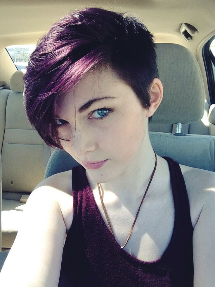 Purple hair colour Ideas for the coming season - Asymmetrical Short Haircuts