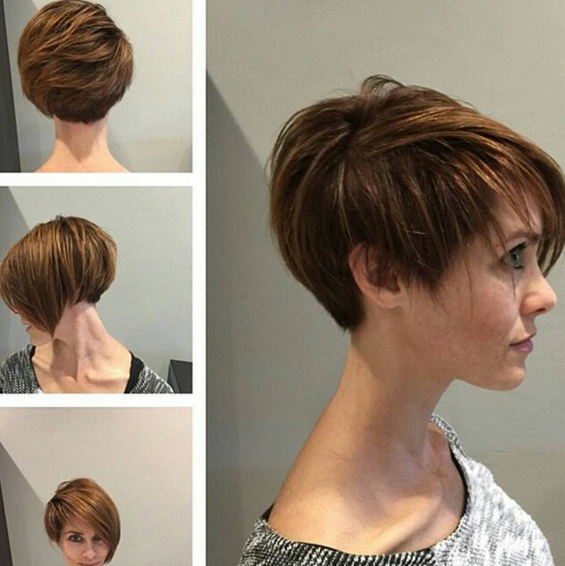 Trendy Asymmetrical, Short Hairstyle - Popular Short Hair Cuts 2015 - 2016