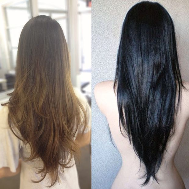 Perfect V Shaped Hair Cut: Textures Long Hairstyles for Thick Hair