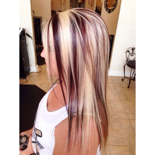 12 Blonde Hair with Red Highlights: Hair Color Ideas | PoPular ...