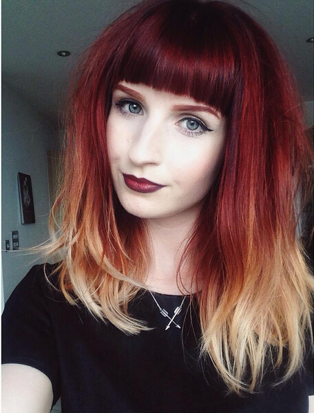 Amazing Ombre Hairstyle - Medium Haircut for Bangs