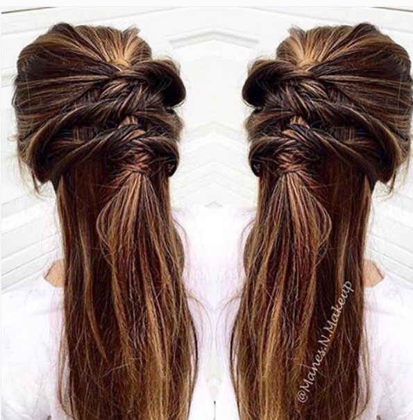 Amazing Twisty Half-Up Half-Down Hairstyles