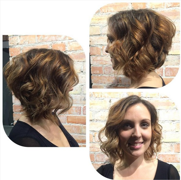 angled bob haircut chic short curly hairstyles for