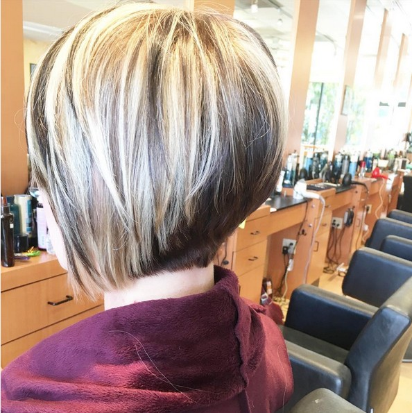 Angled Bob Haircuts - Easy Short Straight Hairstyle