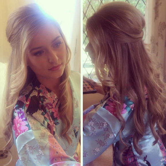 Beautiful Bridesmaid Hair Styles for Long Hair - Half-Up Half-Down Hairstyles